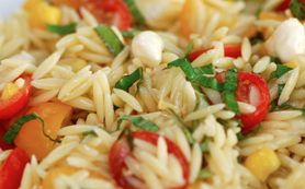 Orzo With Mandarin Oranges