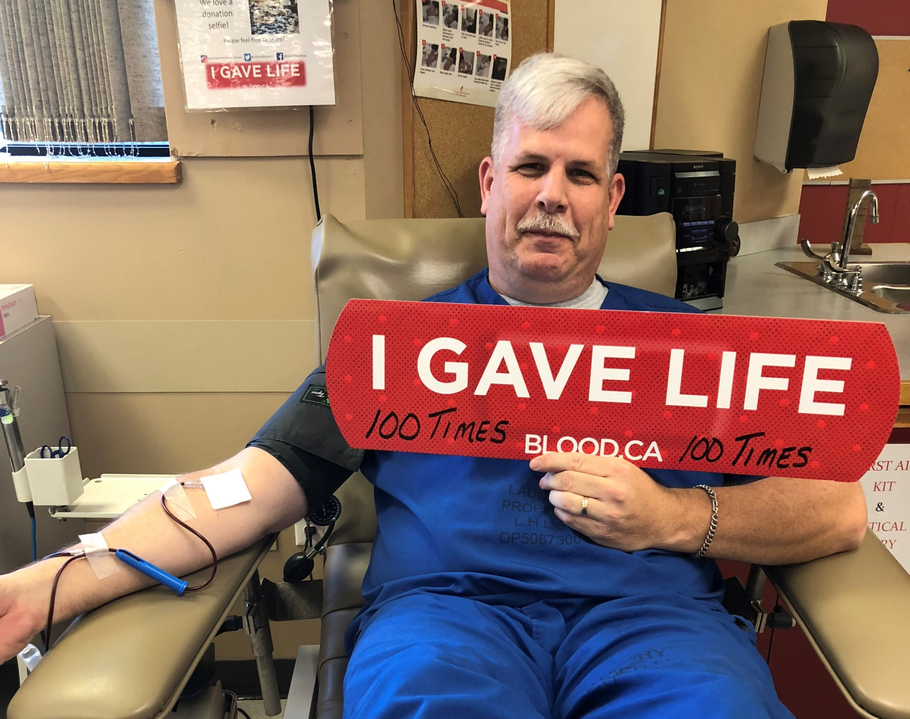 Give blood in honour of our troops